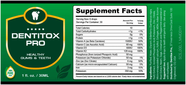 Fitweightlogy - Dentitox Pro Ingredients