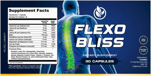 FlexoBliss Review - FlexoBliss Supplement fact Ingredients - fitweightlogy.com