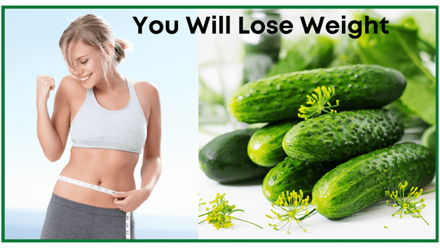 Health Benefits of cucumbers - You will lose weight